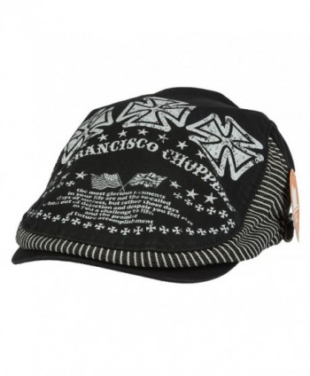NTC TNC Adjustable Digital Printing newsboy Cap Black - C712IFHLHUD