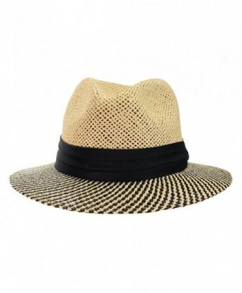 NYFASHION101 Teardrop Weaved Panama XL in Men's Fedoras