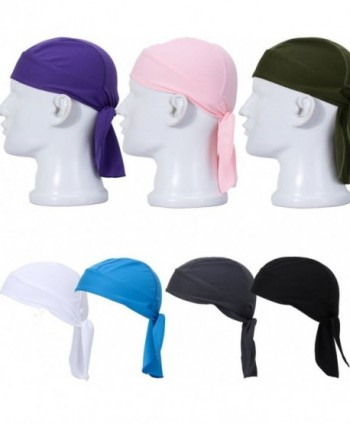 Lilyy Outdoor Cycling Running Double Dry Dew doo Rag headwrap skull cap hat - 7pcs(show as picture) - CI11ZV99QZH