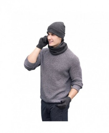 Neonr Winter Knitted Gloves Velvet in Men's Skullies & Beanies