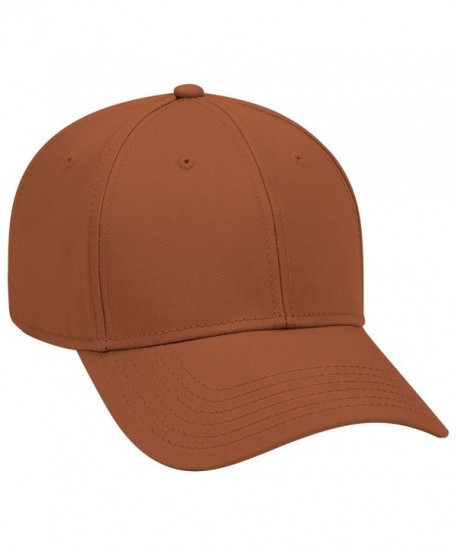 Otto 6 Panel Low Profile Superior Cotton Twill Cap - TX. Orange - C712IVBEGJH
