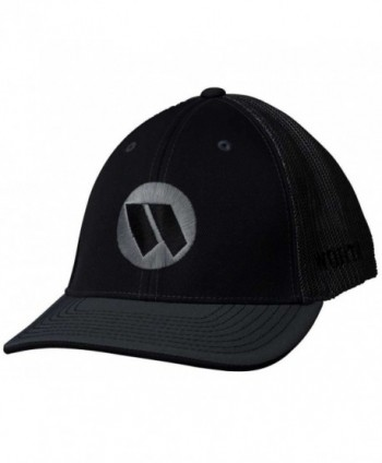 Worth 3D Embroidered Adult Mesh Baseball/Softball Trucker Hat. WTRUCK - Black/Charcoal - CJ12CJ60DV5