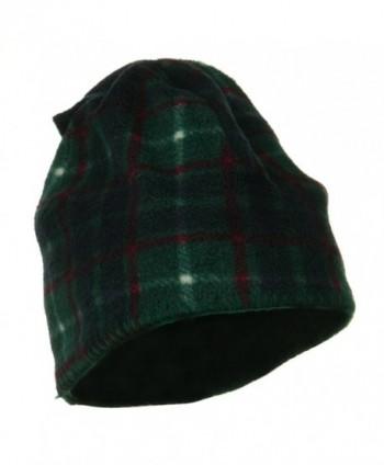 Plaid Design Winter Fleece Hat