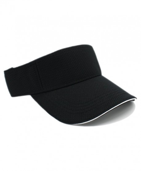 LAFSQ Moisture Management Out Door Sports Sun Visors- Quick Dry Hat - Black - CI182ADROWQ