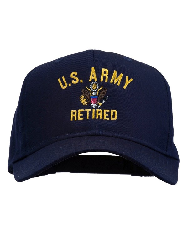 E4hats US Army Retired Military Embroidered Cap - Navy - CE11TX708RD