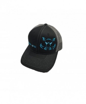 Hog Life Dusk Hunter Cap Black Charcoal Grey & Turquoise (HLC-108) - CZ12OBXCLEN