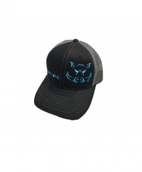 Hog Life Dusk Hunter Cap Black Charcoal Grey & Turquoise (HLC-108) - CZ12OBXCLEN