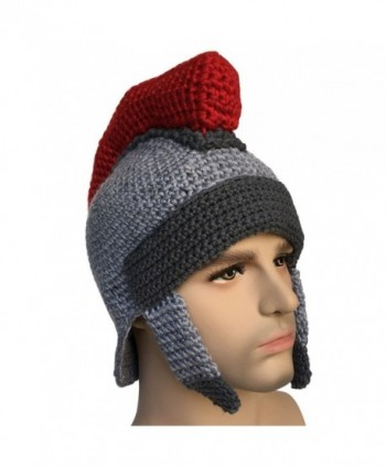 Kafeimali Men's Knight Knit Beard Hat Original Barbarian Warrior Halloween Caps - Gary D - C21872SC2IX