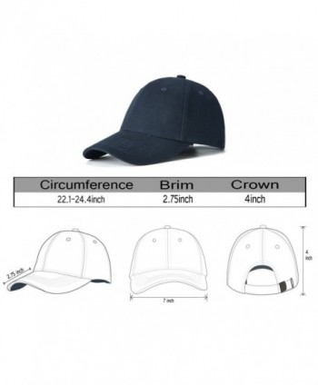 Edoneery Cotton Adjustable Profile Baseball in Men's Sun Hats
