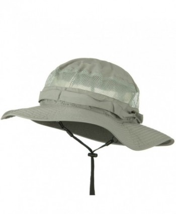 UV 50+ Side Mesh Talson Bucket Hat - Grey - C411J5ZFWGP