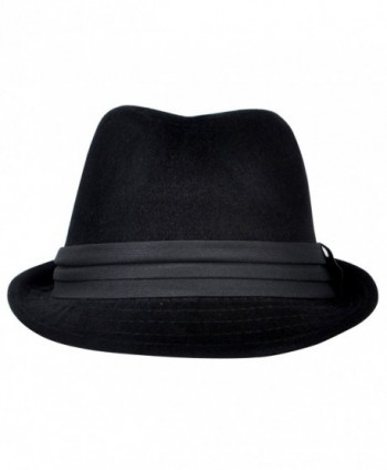Mens Season Fashion Fedora Black