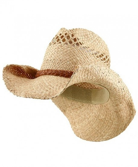 Raffia Hat with Band-Light Brown Band - CB11173800D
