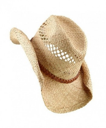 Raffia Hat Band Light Brown Band in Men's Cowboy Hats