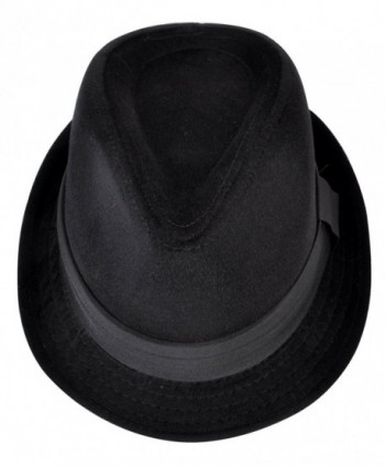 Mens Season Fashion Fedora Black in Men's Fedoras