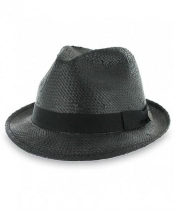 Hats in the Belfry Belfry Straw Goon - Open-Weave Fedora - CT11ZZVL7RL