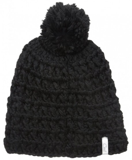 Coal Men's The Waffle Beanie - Black - C512B0ZL62V