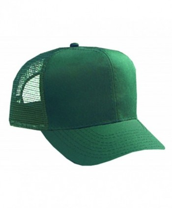 Otto Caps Cotton Twill Pro Style Mesh Back Caps/Trucker Caps - Dark Green - CG11U5JU035