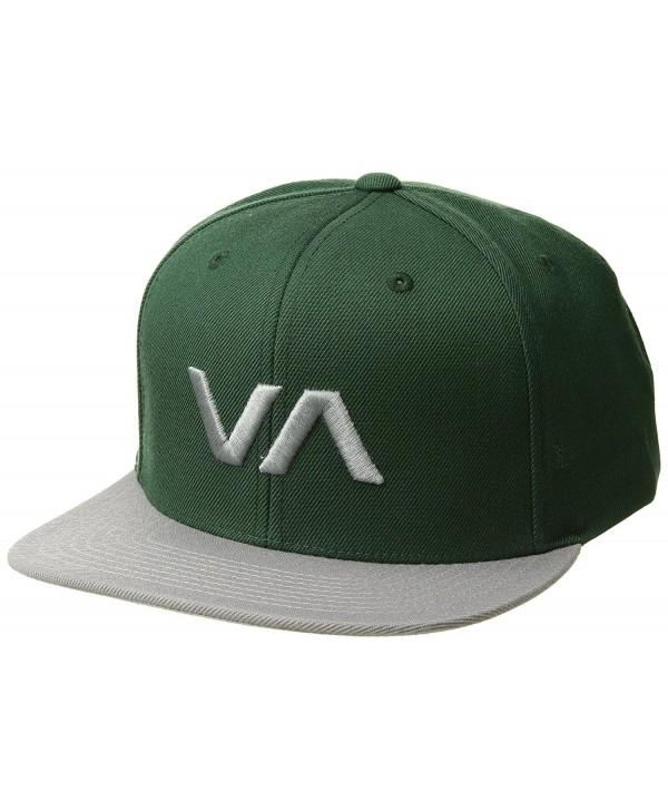 RVCA Men's VA Snapback II Hat - Forest/Grey - CX17YI32K7Y