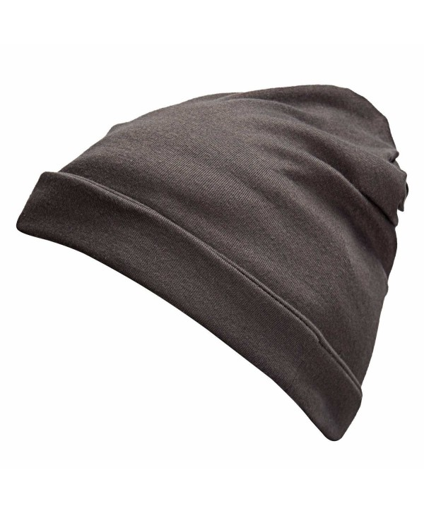 Winter Classic 2 In 1 Baggy Hat and Neck Wrap Scarf Beanies Cap Hat For Women Men - Gray - CC12LAYPR8Z