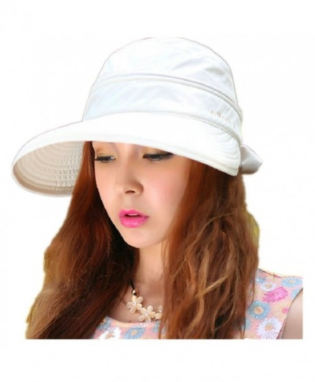 Woman's Baseball caps Fashion Ladies Bowknot Dual Purpose Two USES Hat Sun Visor Summer Beach Hat - White - CT11Y65CRGH