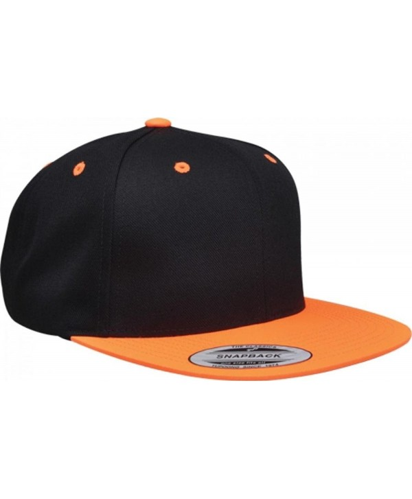 The Original Flexfit Classic SnapBack Cap - All Colors Available - Black/Neon Orange - C111H50ONIZ
