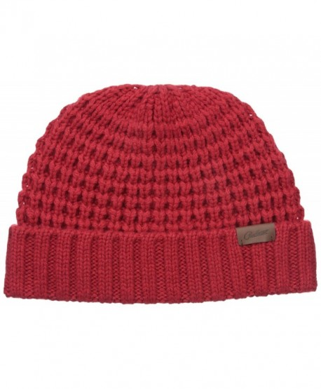 Pendleton Men's Fitted Chunky Beanie - Red - C112LOJ7E65
