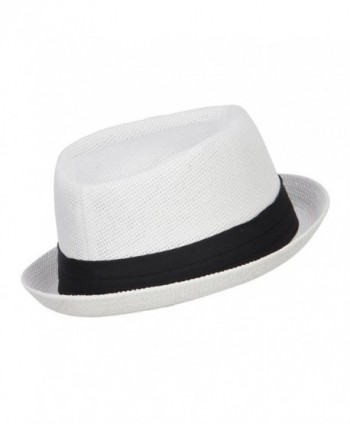Hatiya Solid Upbrim Pork Fedora in Men's Fedoras