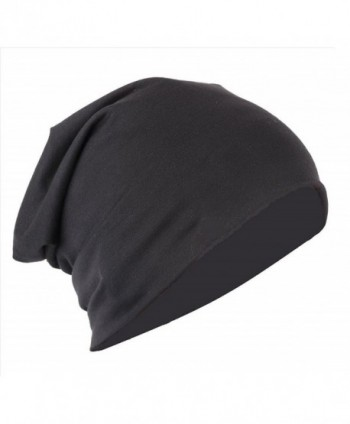 Finger's Unisex Trendy Slouchy Beanie Cap - One Fits All - Black - CZ12MIN4VY9