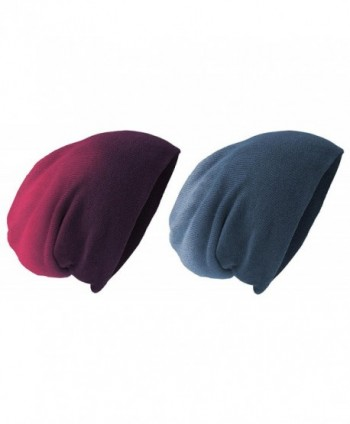 District Acrylic Beanies Set_Eggplant Dye_One - Set of Eggplant Dip Dye & Navy Dip Dye - CN1259M01GX