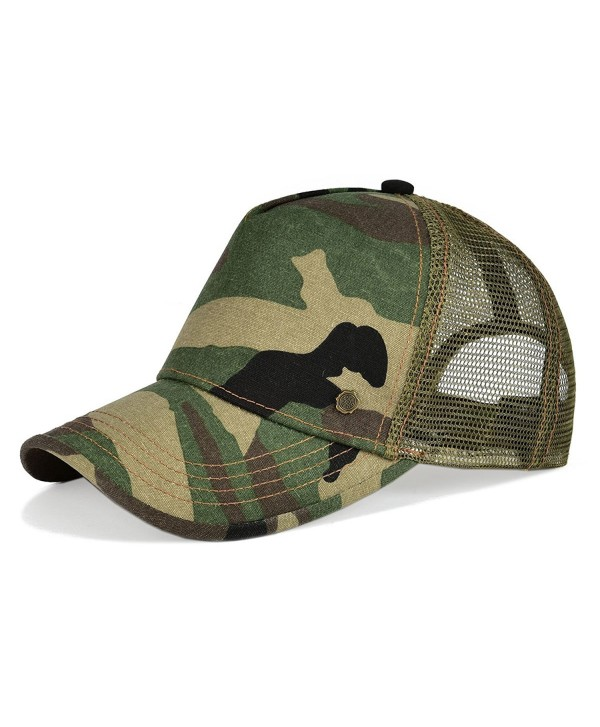 VOBOOM Mesh Hat Trucker Cap 5 Pannel Vintage Men & Women Baseball Cap - Green Camo - CB1849M0HYR