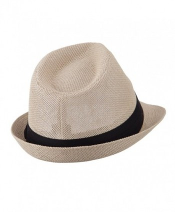 Pleated Hat Band Straw Fedora