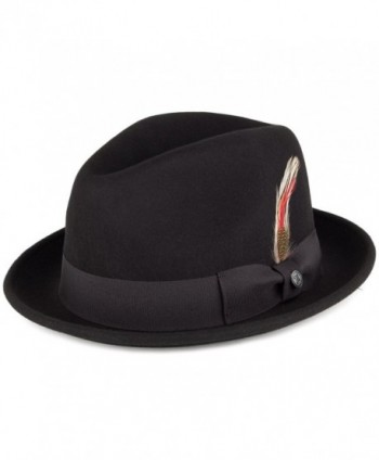 Jaxon Blues Trilby Crushable Fedora Hat - Black - CY112NVO679
