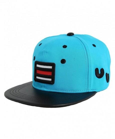 SSLR Men's Cartoon Snapback Baseball Caps - Blue - CY11KZUAIBR