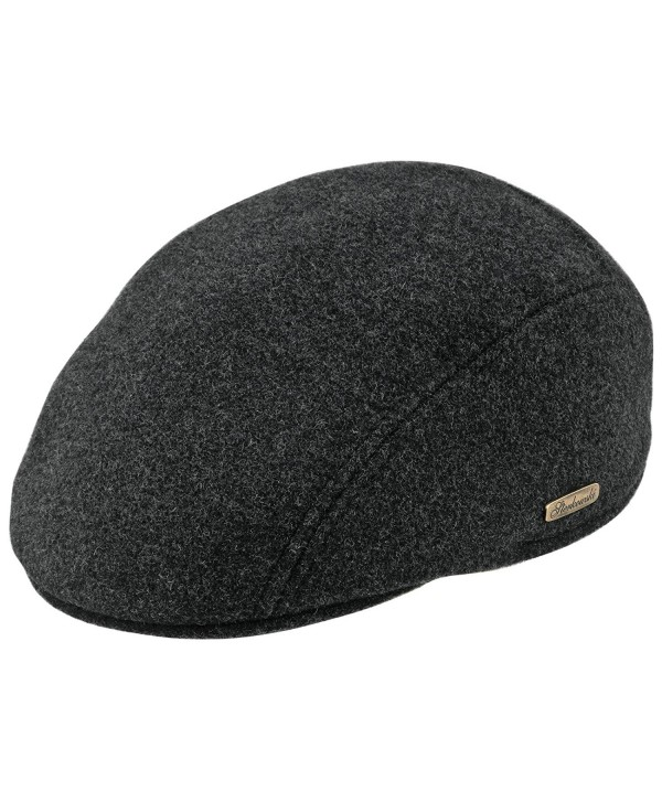 Warm Wool Blend Petersham Ivy League Flat Cap - Charcoal - C011P5JVSAN