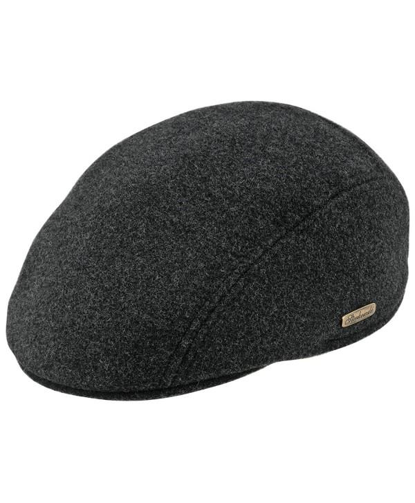 Warm Wool Blend Petersham Ivy League Flat Cap - Charcoal - C011P5JVSAN
