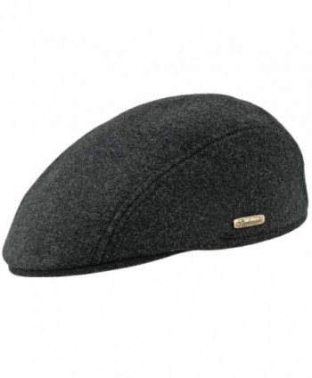 Warm Blend Petersham League Charcoal in Men's Newsboy Caps