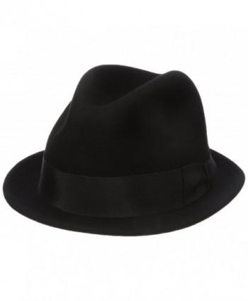 Country Gentleman Men's Floyd Traditional Wool Fedora Hat - Black - CK11RIC61UN