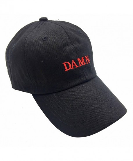 Fan yi DAMN Dad Hats Baseball Cap For Men 3D Embroidered Adjustable Snapback Unisex - Black Red - CO1867CCXHN