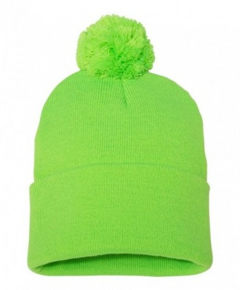 ZUZIFY Pom Pom Knit Winter Beanie. RE0174 - Neon Green - CO187NIEEYE