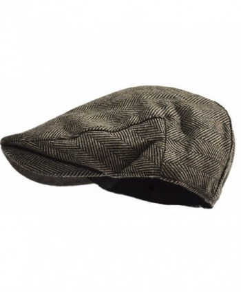Classic Herringbone Tweed Blend Newsboy