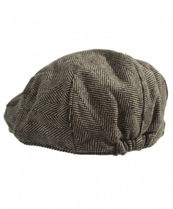 Classic Herringbone Tweed Blend Newsboy in Men's Newsboy Caps