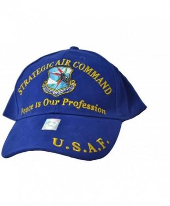 Eagle Emblems Men's Strategic Air Command Embroidered Ball Cap - Blue - C311WYD82J9