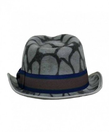 Gray Animal Print Wool Fedora