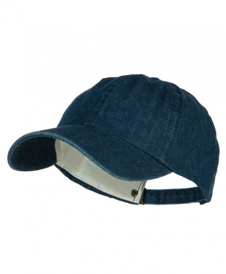 Mega Cap Cotton Denim Baseball Cap - Blue - CE11174X633
