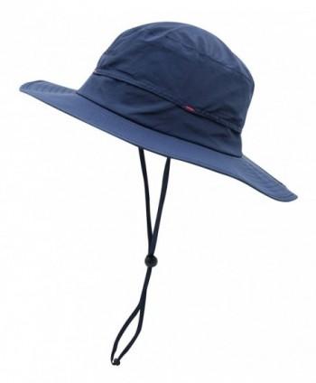 Home Prefer Men's Lightweight Quick Dry Sun Hat UPF50+ Fishing Hat Bucket Hats - Navy Blue - CX12G15VMWT