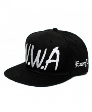 NWA New Eazy E N.W.A Vintage Flat Bill Cap Hat Snapback Unisex Adult Black - CN182M7G3RH