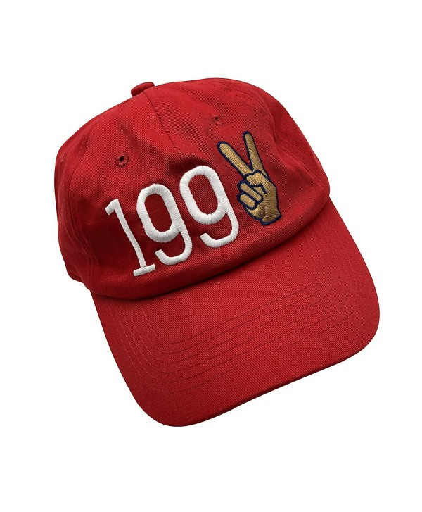 XYH 1992 Dad hats Baseball Cap Embroidered Adjustable Snapback Cotton Unisex - Red - C1187K5QNOE