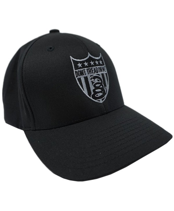 """Don't Tread On Me Brand """"SNAKE BADGE"""" Flex Fitted Hat DTOM Brand (SMALL - MEDIUM) - CT11CE7F94B"""