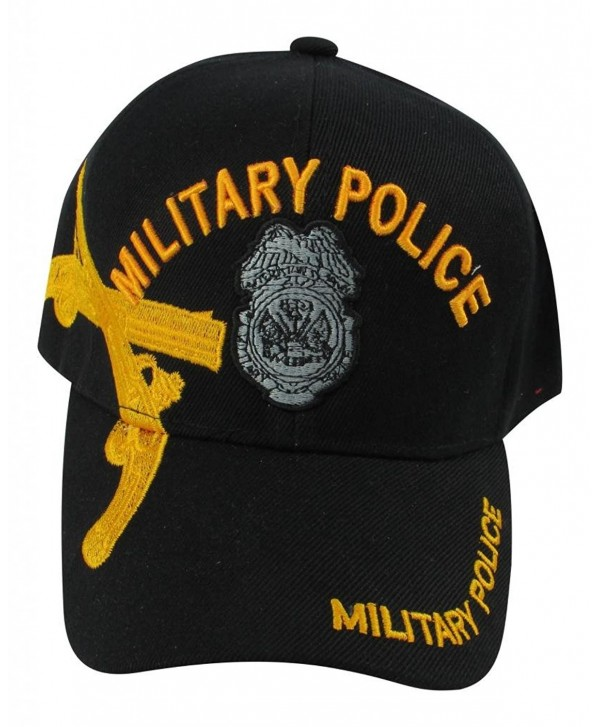 US Warriors U.S. Army Military Police with Gold Pistols Baseball Hat - Black - CB11KFSKEJB