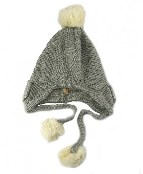 American Rag Pom Pom Faux Fur Trapper Winter Hat - Heather Grey - CZ11BAOQV7R